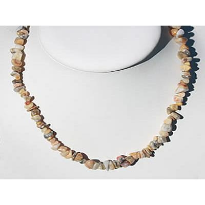 Collier Agate Crazy Lace en Pierre Baroque