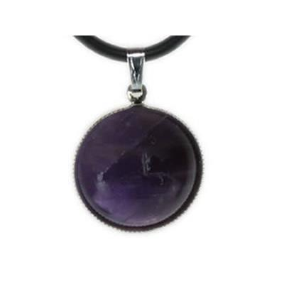 Améthyste Pendentif Cabochon rond 18 mm Harmony