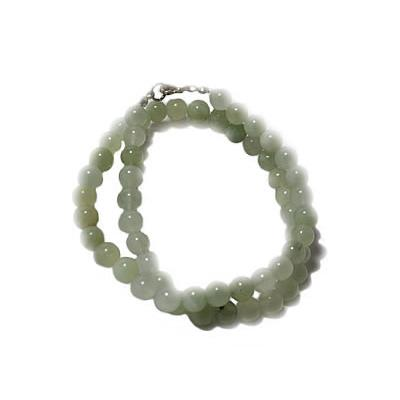 Collier Jade de Chine en Pierre Boule de 8 mm