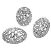 Perle Ovale Collant 6 mm en Argent 925 (Lot de 2 perles)