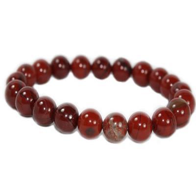Bracelet perles Jaspe rouge pierre de la force