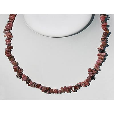 Collier Rhodonite en Pierre Baroque