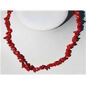 Collier Corail Rouge en Pierre Baroque