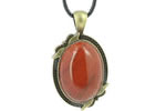 Pendentifs Style Bronze Cabochon Ovale 25x18 mm