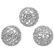 Perle Ronde Collant 8 mm en Argent 925 (Lot de 5 perles)