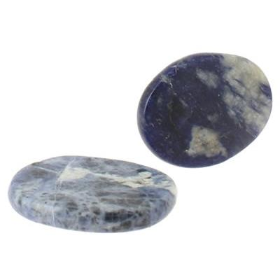 Sodalite galet pierre plate (4,5x3,5x0,7 cm)